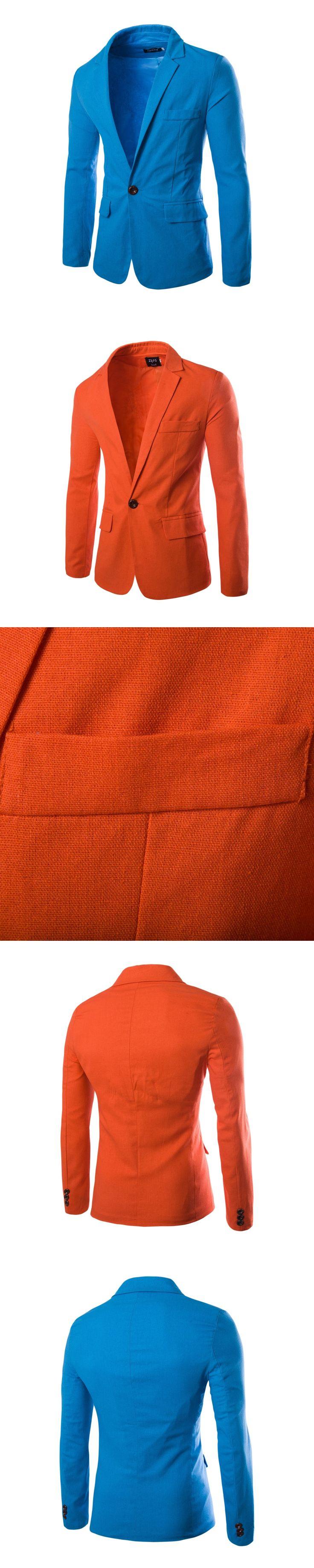 2017 Men Casual Blazers Cotton Coats Slim fit Royal Blue Brand Male Dress Suits cheap Jackets Blazers Plus Size costume homme