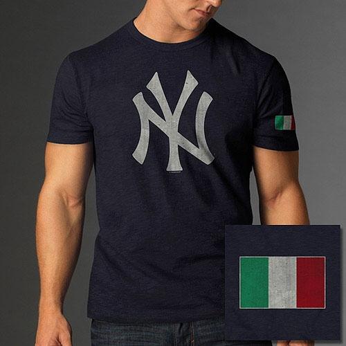New York Yankees Italian Flag Scrum T Shirt By 47 Brand