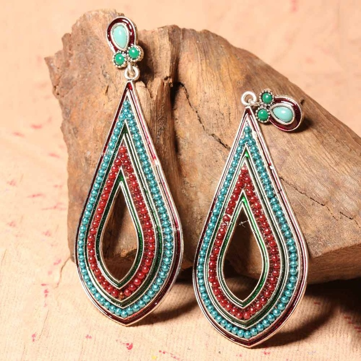 Elegant Long Stylish Earrings are an ideal choice as they look very stylish and smart. The best part is that they perfectly complement both western and traditional wear. The different colors of tiny studs look great and wonderful. So, ladies grab these smart earrings and flaunt your style.      Fashion Statement      You can wear these earrings with lehengas, saris and even with your western outfits.
