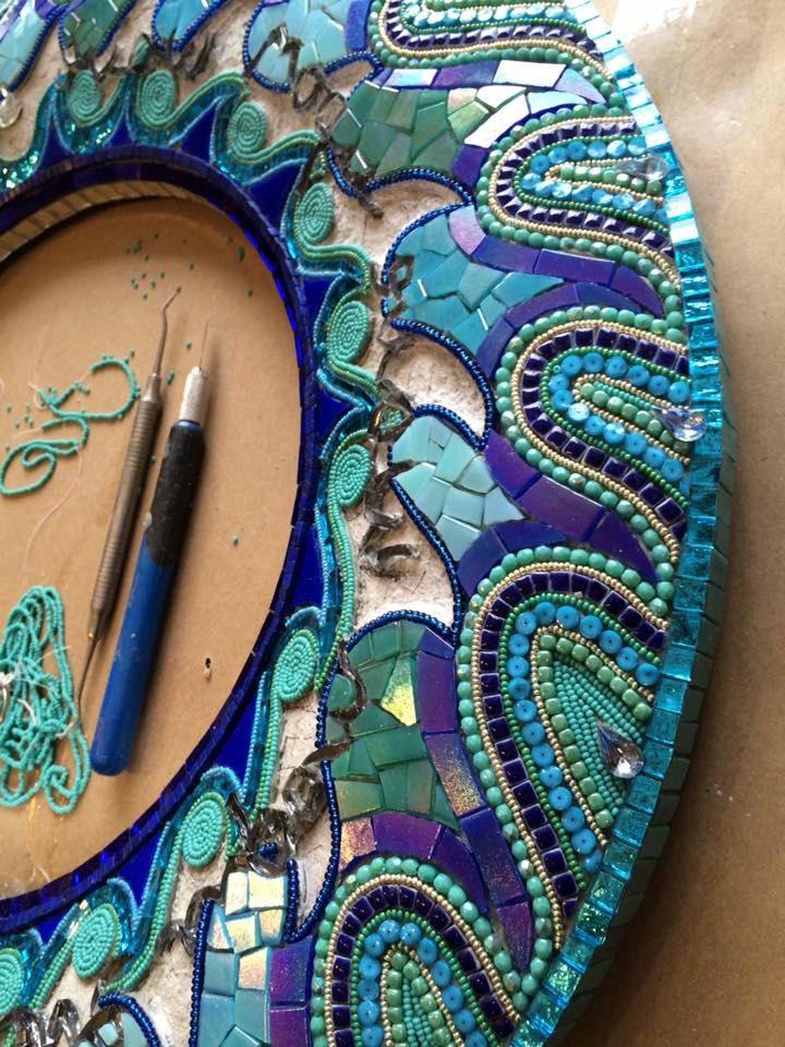 sharrafrankwavemirror05 mosaic designsmosaic ideastile