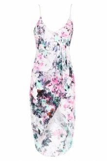 'Floral Waterfall' Midi Dress