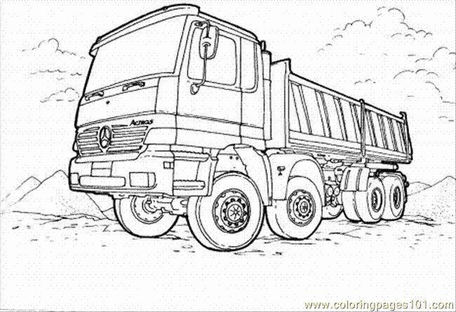 Pin Di Truck Coloring Pages