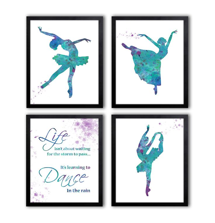 Teenage Girls Wall Art - Dancing Decor - Dance Quote - Ballet Art For Girl by TheWildlands on Etsy https://www.etsy.com/listing/230559493/teenage-girls-wall-art-dancing-decor