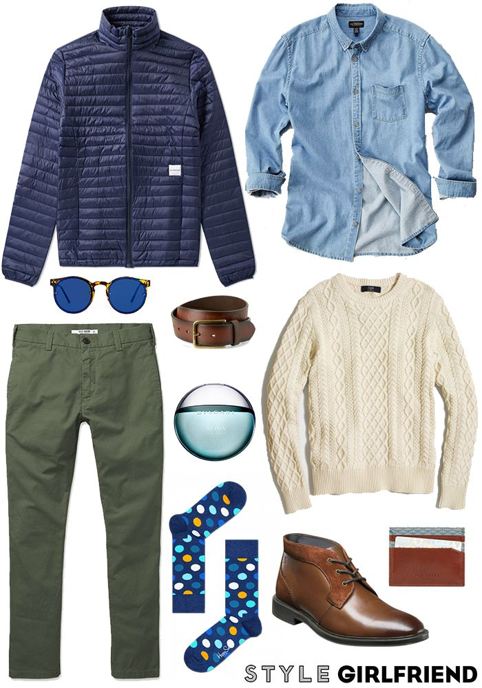 How to Wear Olive Green Chinos   Week 1 Day 2 of No Jeans January