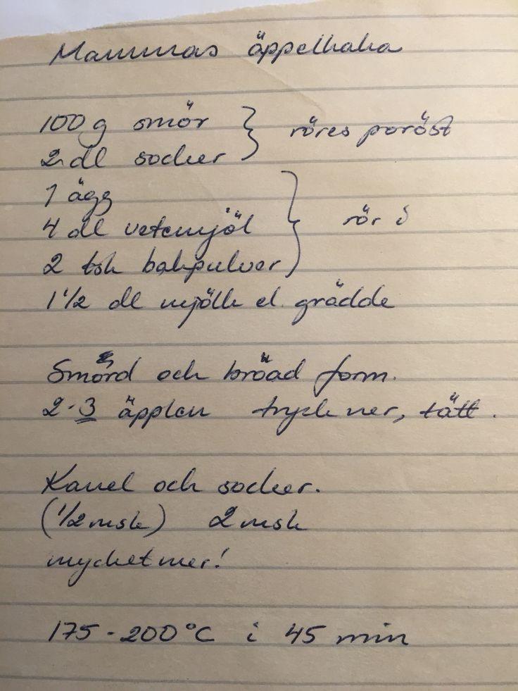 Mammas äppelkaka