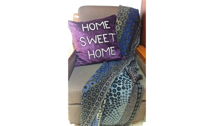 Get into the Ultra-Snob Feel....  Pictured here is Espressioni-Home Sweet Home Cushion