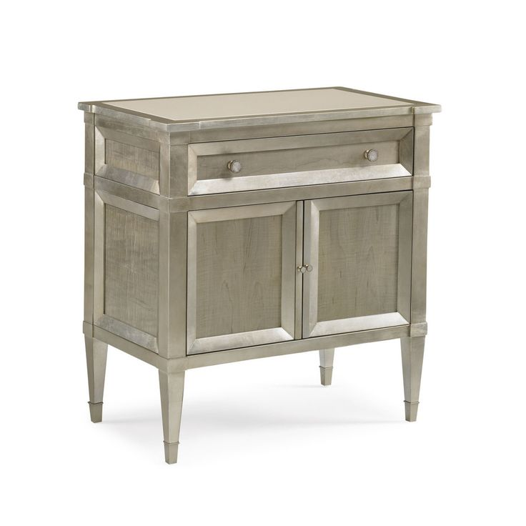 For a stylish bedroom interior, there‰۪s no going past the allure the Liana Taupe Silver Leafe Nightstand provides. National Delivery. Shop Now.