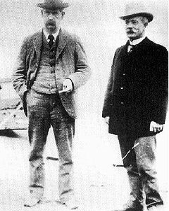 Wyatt Earp in Nome, Alaska with long-time friend and former Tombstone mayor and editor John Clum