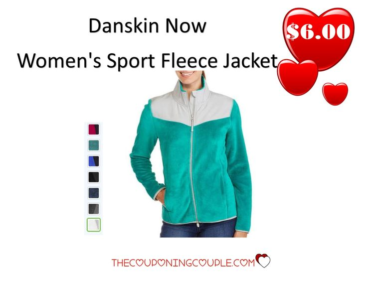 HOT BUY!! Pay only $6.00 for a Danskin Now Women's Sport Fleece Jacket! Add your your wardrobe or grab a couple for gifts!  Click the link below to get all of the details ► http://www.thecouponingcouple.com/danskin-now-womens-sport-fleece-jacket-only-6-00/ #Coupons #Couponing #CouponCommunity  Visit us at http://www.thecouponingcouple.com for more great posts!