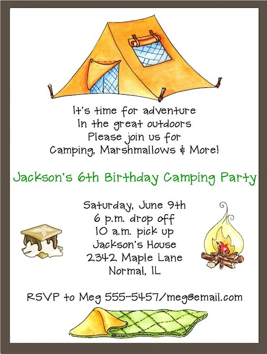 , camping bachelorette party invitations, camping birthday party invitations, camping birthday party invitations templates, invitation samples
