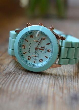 Kup mój przedmiot na #vintedpl http://www.vinted.pl/akcesoria/bizuteria/9910271-zegarek-marki-geneva-mietowy-nowy