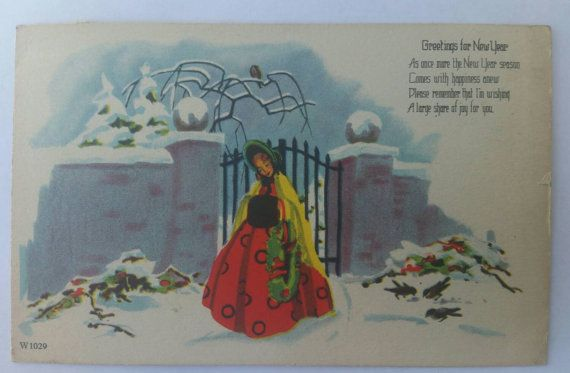 Check out this item in my Etsy shop https://www.etsy.com/listing/256095500/greetings-for-new-year-lady-in-rhe-snow