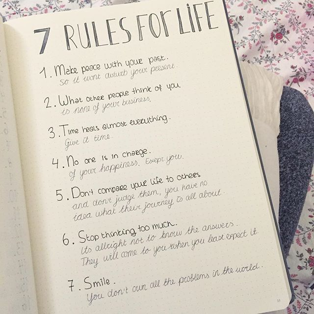 Found this list somewhere on the internet, thought I'd put it in my bullet journal!