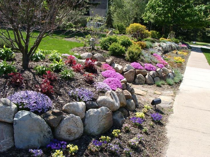 rock wall garden - Rock Wall Garden Designs