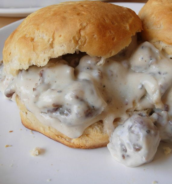 Recipe For Biscuits and Gravy...although I'll always cheat by using Pillsbury biscuits ;)