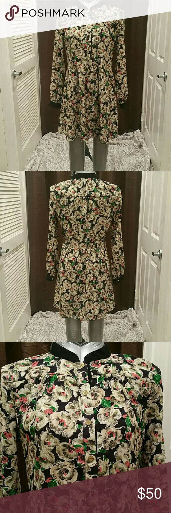 JUICY COUTURE  LONGSLEEVE DRESS 100% polyester Juicy Couture Dresses Long Sleeve