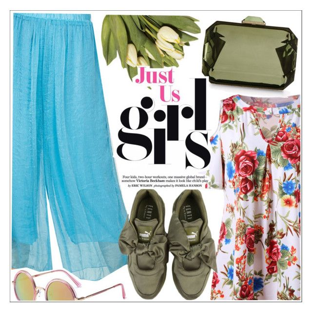 """""""Just Us girls"""" by teoecar ❤ liked on Polyvore featuring Puma and STELLA McCARTNEY"""