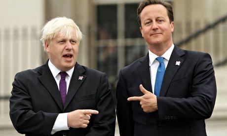 Boarders … Boris Johnson and David Cameron. Photograph: Yui Mok/PA