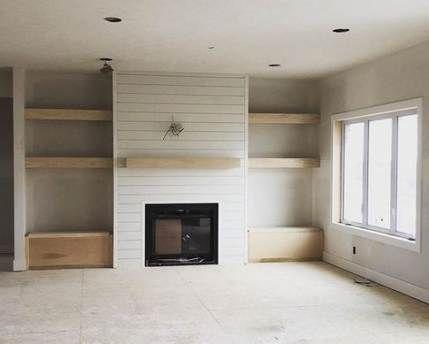 50 Trendy Farmhouse Livingroom Fireplace Bookshelves