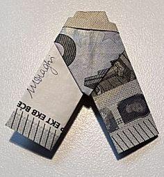 Geldbroek vouwen -- als cadeautje geld geven