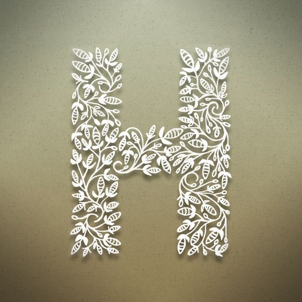 Botanical Alphabet on Typography Served