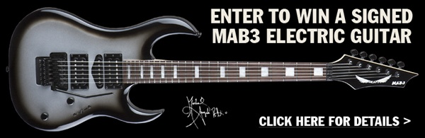 win a signed mab3 electric guitar we are giving away this guitar at our michael angelo batio. Black Bedroom Furniture Sets. Home Design Ideas