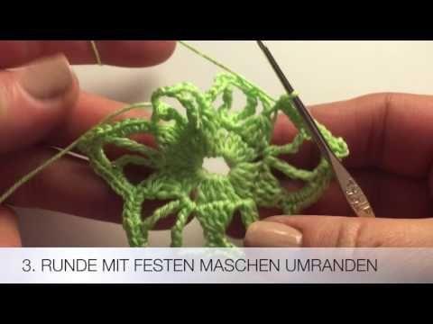 Stern Muster Häkeln - YouTube