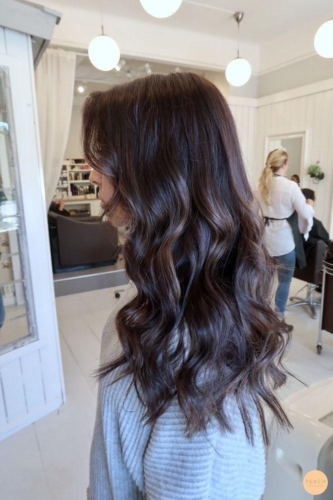 Cool brown haircolor