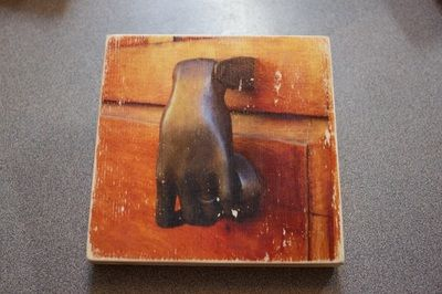 This was made by transferring a laser print to a wooden board.  Watch the tutorial on my blog.