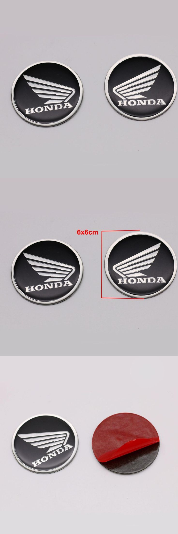 [Visit to Buy] 6x6cm Wing Style Stickers 3D Badge Emblem Fairing Decal Sticker Fits for Honda And Most Motorcycle Car Auto Body Tank Cover #Advertisement