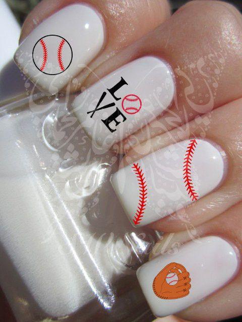 Baseball Nail Art Water Decals Nail Transfers Wraps