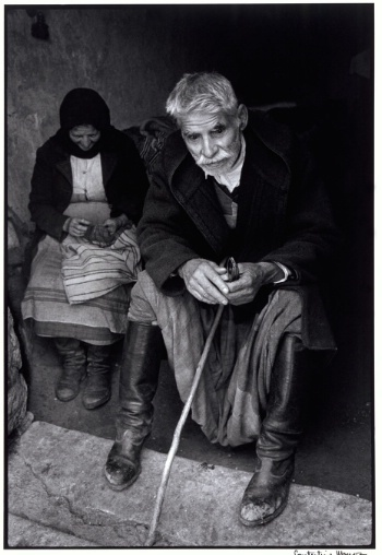 Blind man in doorway of his house, Crete, Greece, 1964 - Greek America Foundation; Photograph by Constantine Manos, Magnum Photographer