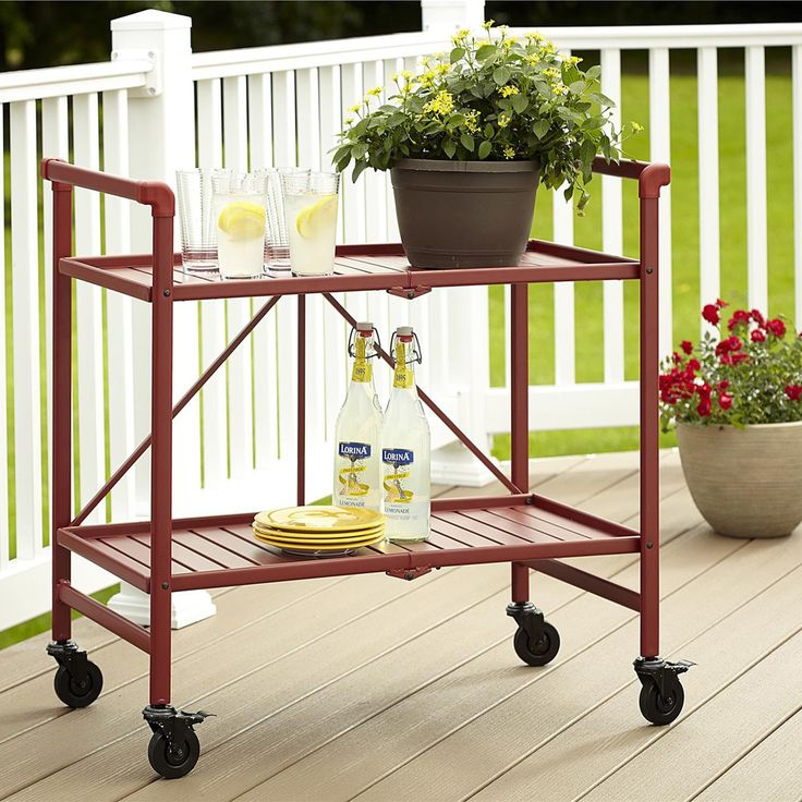 Cosco SMARTFOLD Outdoor Folding Serving Cart - Overstock™ Shopping - Big Discounts on Cosco Coffee & Side Tables