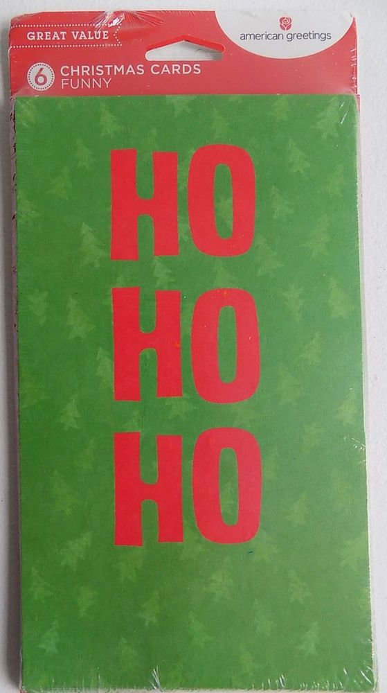 Red and Green Ho Ho Ho 6 Christmas Money Gift Card Holders & Envelopes #AmericanGreetings #Christmas