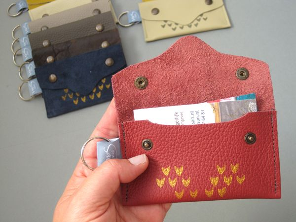 A small leather pouch for bankcards or personal cards @Van San