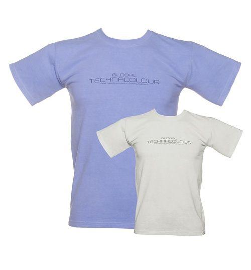 Unisex Blue To White Heat Sensitive T-Shirt