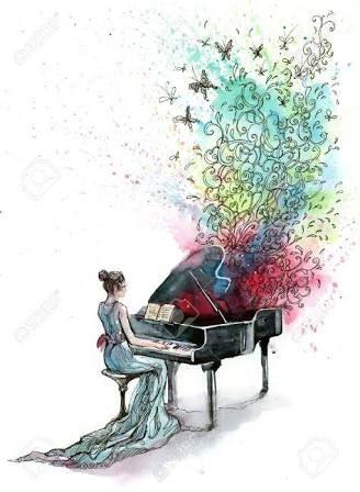 grand piano drawing - Google Search