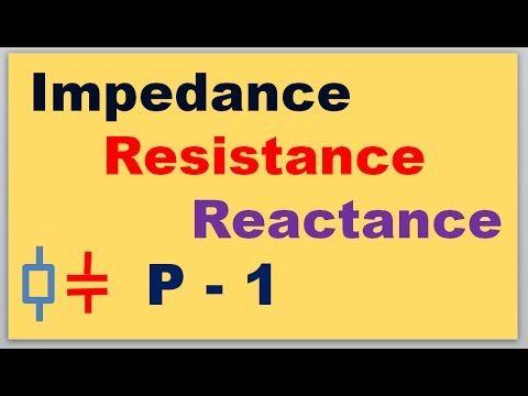 Impedance, Resistance & Reactance difference, Part 1
