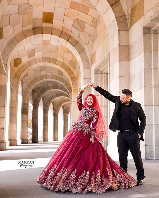 A beleza tradicional dos vestidos das noivas mulçumanas