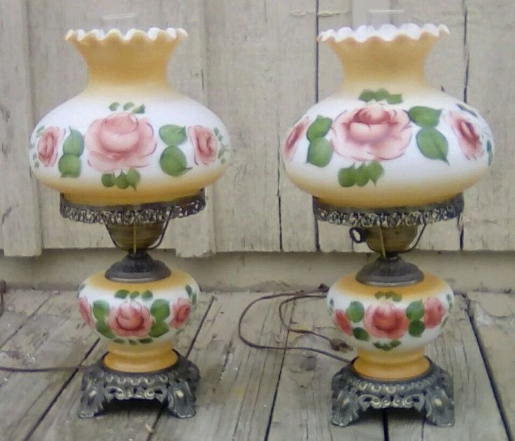 Vintage Electric Hurricane Table Lamps