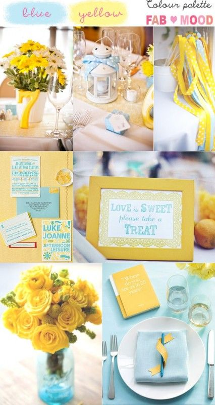 Blue yellow wedding colors mood board,yellow wedding,turquoise wedding,yellow turquoise wedding color palette