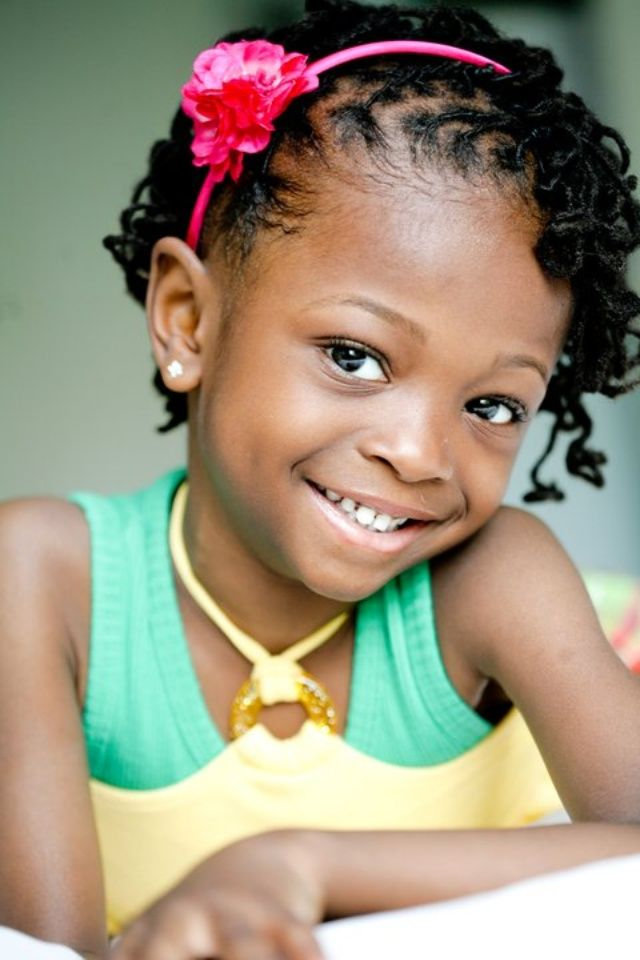 She's a cutie! Nice little girls' protective style