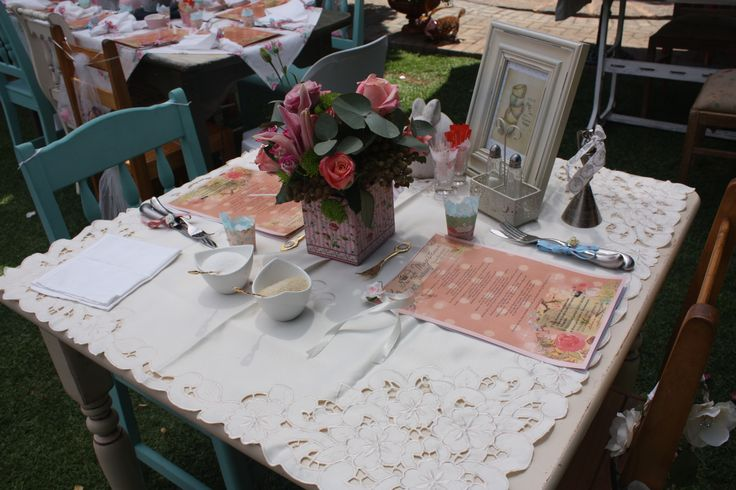 Tea table setting