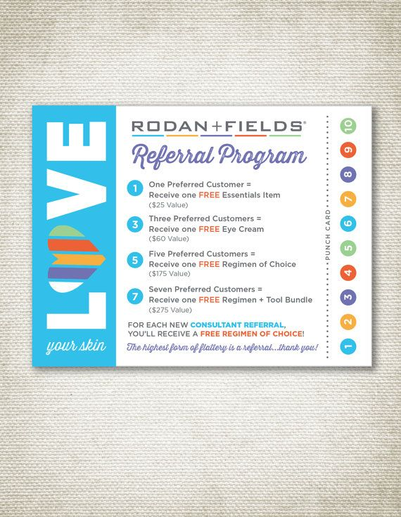 Rodan and Fields Referral Cards by TrilogyCreative on Etsy