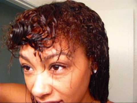 """Denman Brush """"Trick"""" to define curls ~ I thought this was entertaining more than useful because my hair does the exact same thing."""