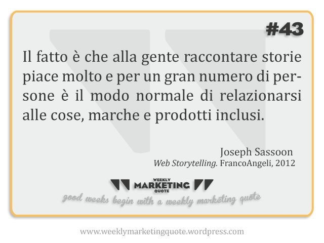 Weekly Quote 43: Joseph Sassoon - Weekly Marketing Quote