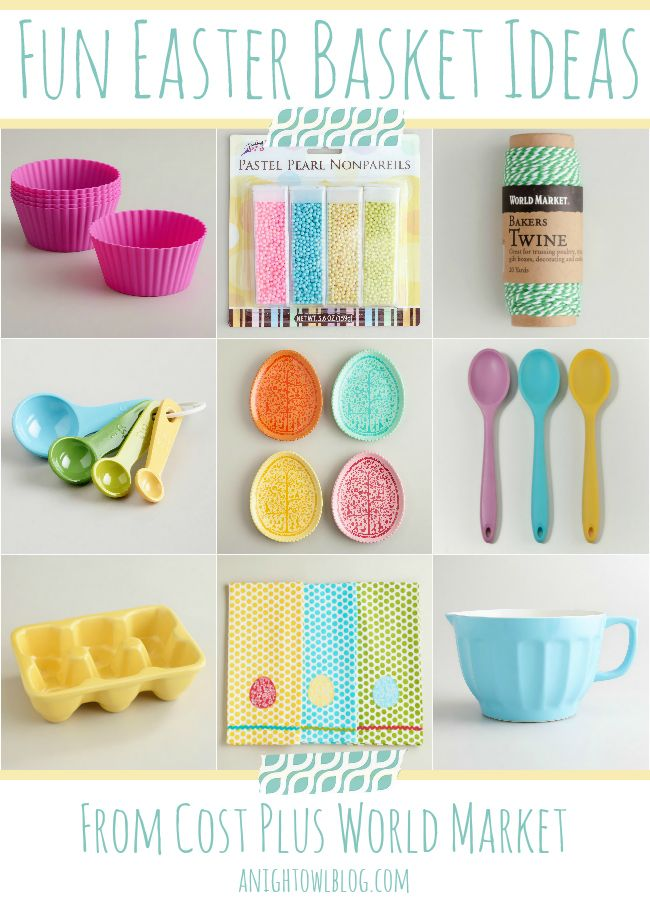 85 best holidays easter images on pinterest easter recipes fun easter basket gift ideas from cost plus world market negle Images