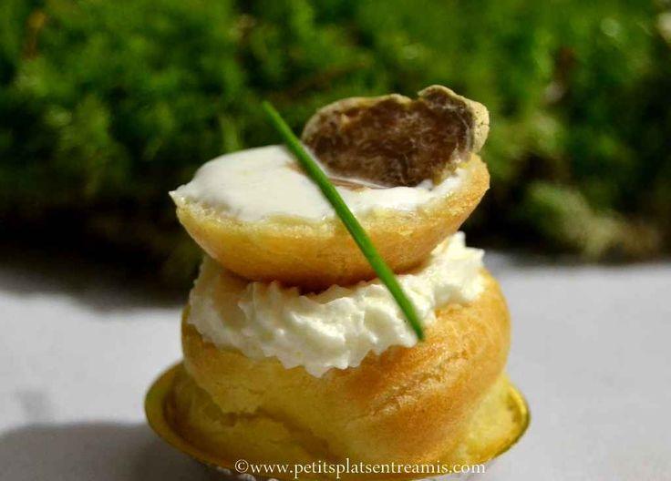 petits choux la truffe blanche recette les recettes. Black Bedroom Furniture Sets. Home Design Ideas
