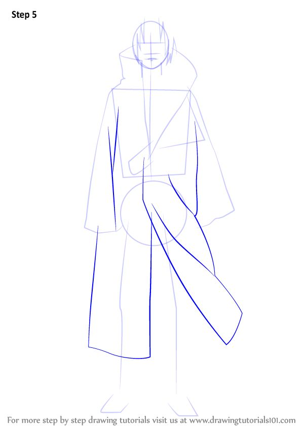 Learn How To Draw Itachi Uchiha From Naruto Naruto Step By Step Drawing Tutorials In 2021 Itachi Uchiha Naruto Sketch Itachi