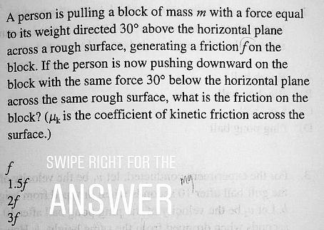 MCAT Physics Question of the day.